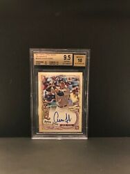2017 Topps Gypsy Queen Aaron Judge Auto Rc Bgs 9.5 Gem Mint Card 10 Auto Rare