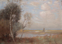 Joseph Archibald Browne 1864 - 1948 Oil Painting On Wooden Board