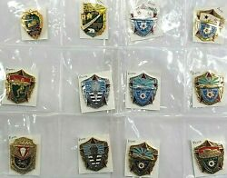 12pcs Russian Soviet Army Military Insignia Medal Badges Collection Hr60