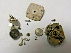 Vtg Wittnauer 5jh Wrist Or Pocket Watch Parts For Repair As Is