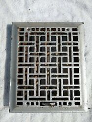 9 5/8 X 11 1/2 Cast Iron Floor Wall Register Heat Grate Vent Grille Louver