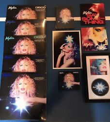 Kylie Minogue Disco Vinyl Blue Turquoise Clear Gitd Marble Yellow Red Signed Cd
