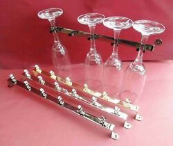 1x Slim 5 Glass Wine Holder Campers/rv/boats/homes. 13. 3 Colours 32cm [stg5]