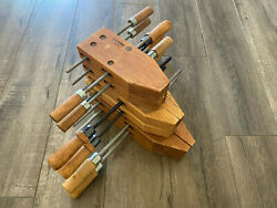 Vintage Lot Of 6 Craftsman Woodworking Clamps Made In The Usa 66642 / 66644
