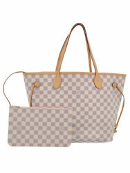 Louis Vuitton Made In U.s.a. Damier Azur Neverfull Mm N41605 Ladies Tote B