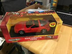 Ertl Collectibles American Muscle 2003 Corvette Coupe 50th Anniversary