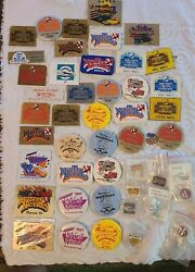 Huge Lot Of 1980's Nsra Western Nationals Dash Plaques Hat Pins And Buttons Rod
