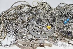 Bulk Lot Sterling Silver Necklaces,chains Asst,many Signed Pcs 1000 Dwt 20832