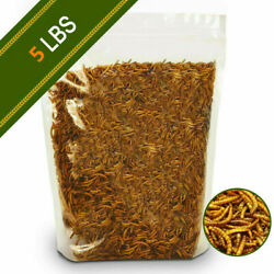 5 LBs Freeze Dried Mealworms For Chicken Hens Treats Hamster Duck Feed Organic