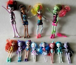 12 Mattel Monster High And Enchantimals Dolls Clothes Shoes Big Large Lot Group
