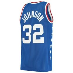 Mitchell And Ness 1985 All Star Game Magic Johnson Western Royal Authentic Jersey