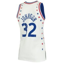 Mitchell And Ness 1983 All Star Game Magic Johnson Western White Authentic Jersey