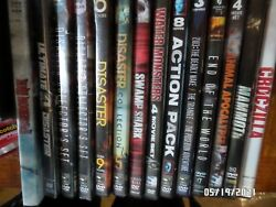Disaster Movies and Giant Animals on DVD VGS make offer see pix for title