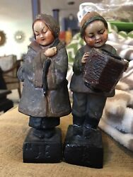 Vintage Chalkware Chinese Woman And Man 1930s Esther Hunt Era