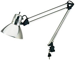 V-light Architect-style Cfl Swing-arm Task Lamp With Non-skid Table/desk Clamp