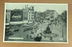 Piccadilly Circus London Coca-cola Sign Vintage Postcard L1a