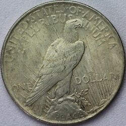 1923 Peace Dollar Vam 1e Broken Wing Top 50 - About Uncirculated