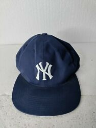 Vintage 90s New York Yankees Grosscap Snapback Hat Cap Rare Signed Paul O'neill
