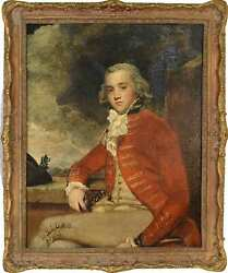 Captain Bligh By Sir Joshua Reynolds Framed Oil On Canvas Reproduction 27in X 33