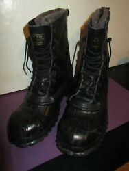 Lacrosse De-icer Duck Boots Size 10 Steel Toe And Shank Ansi Safety Excellent