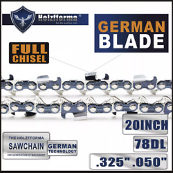 20 Saw Chain .325 .050 78dl Compatible With Husqvarna 445 450 455 460 Poulan