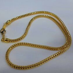 24k Solid Gold Chain Necklace 18 Inch By Estherleejewel