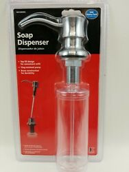 Keeney Premium Style Soap Or Lotion Dispenser For Sink Satin Stainless Finish