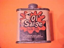 Vintage Ol' Sarge Gun Oil Tin Can American Oil And Supply Co Universal Engineering