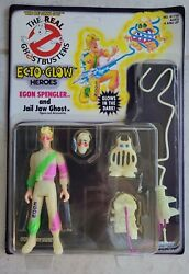 New 1986 Unpunched Real Ghostbusters Ecto Glow Egon Spengler W/ Jail Jaw Figure