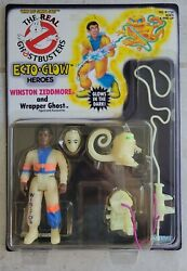 New Unpunched Real Ghostbusters Ecto Glow Winston Zeddmore Wrapper Ghost Figure