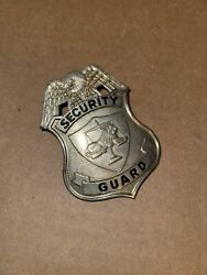 Obsolete Security Guard Badge, Silver Color Metal