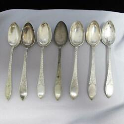 7 Pc Sterling Silver Simon Groth J. Holm Denmark Spoons As Is 81.4g J476