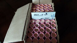50 Roll Box Of 2021 Lincoln 25 P 25 D Penny Cent Shield Rolls