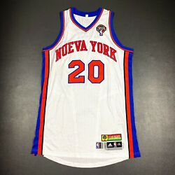 100 Authentic Mike Bibby Latin Nueva York Knicks Game Issued Jersey Size 2xl+2