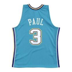 Mitchell And Ness New Orleans 2005-06 Nola Hornets Chris Paul Swingman Teal Jersey