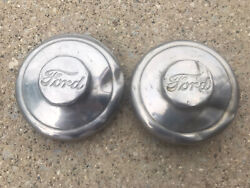 1934 1939 Ford Truck Front Hub Caps Oem Axle Pair 1.5 Ton 1-1/2