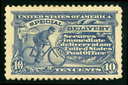 US Scott #E11 Bike Messenger 10¢ 1917 Special Delivery Perf 11 MH *FREE SHIP* $27.99