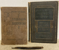 Standardized Textbook Of Barbering 1931 First Ed Antique Barber Book Lot Decor