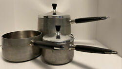 Wearever Aluminum Plus Stainless Inner Clad Pans R781 R782 And R783-only 2 Lids