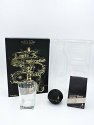 Johnnie Walker Black Ice Ball Mould Mold And Scotch Drinking Glass With Box