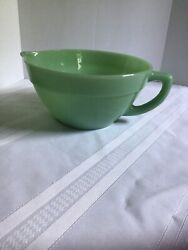 Vintage Fire King Oven Ware Jadeite Batter Mixing Bowl W/ Handle Spout 18