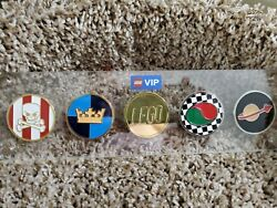 Lego Vip Collectible Coins - All 5 Coins In Case