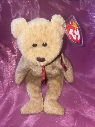 Ty Beanie Baby Collection Retired Curly Bear April 12,1996 Rare With Errors