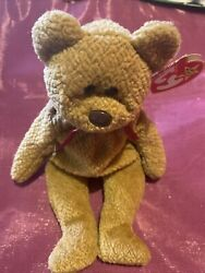 Ty Beanie Baby Collection Retired Curly Bear April 121996 Rare With Errors