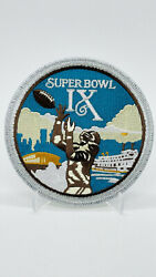 1975 Super Bowl Ix Official Sb 9 Football Patch Pittsburgh Steelers V Vikings