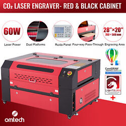 Omtech 60w 28x20 Co2 Laser Engraver Cutter With Lightburn And Coreldraw For Mac