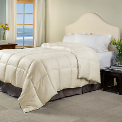 Glamorous 200 Gsm Down Alternative Comforter And Sets Ivory Striped Select Item