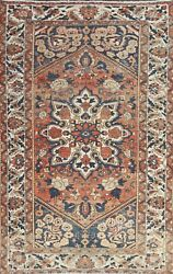 Vegetable Dye Semi-antique Geometric Traditional Area Rug Wool Hand-knotted 5x8