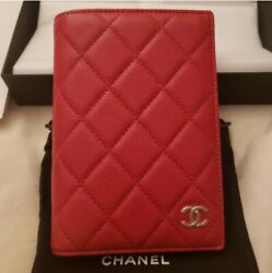 Passport Holder Red Caviar Leather Cover New Tags Authenticity Card