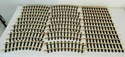 Lgb 12pc Brass Curve R1-30 Deg And 1 Ft Straight Track 6pc And With Connectors
